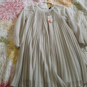GAP silver sheer dress